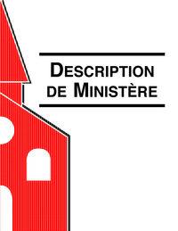 Coordinateur des Ministères de la Famille - Description de Ministére